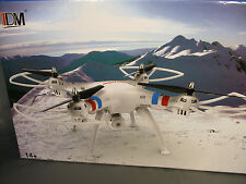 IDM Tracker 2.4 GHZ 6-AXIS Gyro Quadcopter With HD Camera - White, DM008