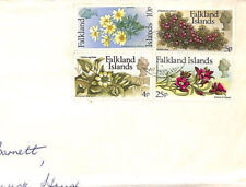 BT107 Falkland Islands 1970s FLOWERS ISSUE Commercial HIGH RATE Air Mail Cover
