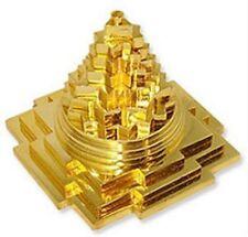 MERU SHRI SHREE YANTRA FOR VASTU CORRECTION & PROSPERITY GOLD PLATED ENERGIZED