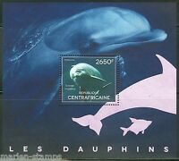 CENTRAL AFRICA  2014   DOLPHINS  SOUVENIR SHEET II    MINT NH