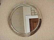 Hand Crafted*  MOROCCAN BEATEN METAL SILVER COLOUR ROUND MIRROR*