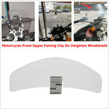 Motorcycle Front Upper Clip On Heighten Windshield Deflector Fit For Yamaha BMW
