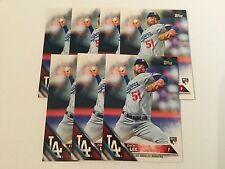 2016 Topps Zach Lee RC #127 Lot (7) Los Angeles Dodgers