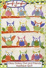 OKEY DOKEY OWL and FRIENDS Applique Quilt Pattern by Jennifer Jangles