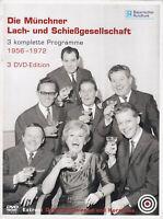 DIE MÜNCHNER LACH- UND SCHIESSGESELLSCHAFT - 3 DVD - 3 kompl.Programme - 1956-72