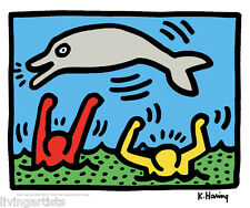 Keith Haring JUMPING DOLPHIN 11x14 Giclee Pop Art Print **SALE