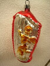 Vintage Glass Angel on a Harp Christmas Tree Ornament