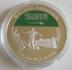 Liberia 10 Dollars 2005 Football World Cup in Germany Saudi-Arabia