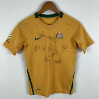 Nike Australia Socceroos Football Jersey Youth Size Small 130-140cm Signed