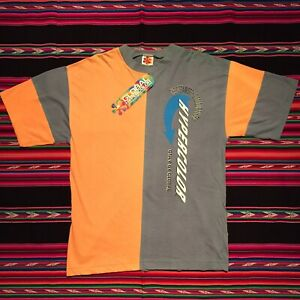 Vintage 90s Generra Global Hypercolor T Shirt New With Tags USA Made Working