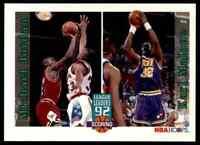 1992-93 NBA Hoops League Leaders Michael Jordan Karl Malone #320 10=Fs