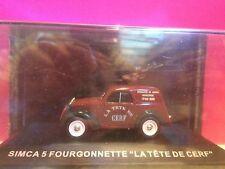 SUPERBE SIMCA 5 FOURGONNETTE LA TETE DE CERF 1/43 NEUF EN BOITE SOUS BLISTER M6