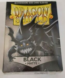 Dragon Shield - 60 Standard Sized Card Sleeves - Black - Matte
