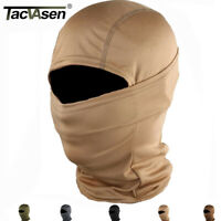 TACVASEN Elastic Tactical Hood Mask Quick Dry Hunt Paintball Army Full Face Mask