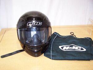 HJC CS-Y Full Face Motorcycle Helmet Gloss Black - Size Youth L-XL - DOT w/Bag