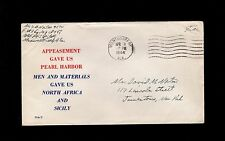 WWII Patriotic Military Free Appeasement Montgomery Alabama 1944 Cover 3o