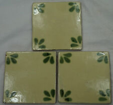 16 x Ceramic Mexican Wall Tile Hand Painted-Made Mexico Terracotta Tiles R44