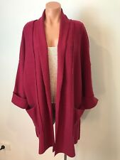 MAGGIE T 100% PURE NEW WOOL CARDIGAN / JACKET SIZE 0
