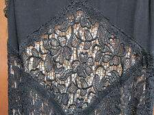 Torrid Black Dress Size 00 Lace Trapeze Sleeveless Cutout Back Cocktail NWT