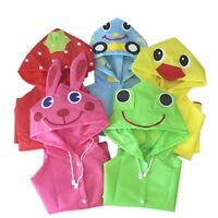 Children Cartoon Rain Coat Kids Rainwear Cute Baby Funny Waterproof Raincoat US