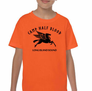 Camp Half Blood T-Shirt Kids Funny Percy & The Lightning Thief Movie Boys Girls