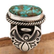 "Native American TURQUOISE RING Sterling Silver ""ANGEL WINGS"" ALBERT JAKE"