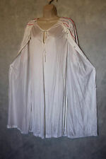 True Vintage Henson Kickernick White Waltz Length Gown Robe Set Size L USA Nylon