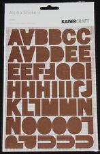 Kaisercraft Tangerine Alpha Abc/123 Letter Number Stickers Craft Scrapbook