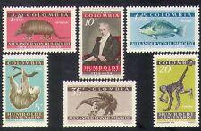 Colombia 1959 Humboldt/Monkey/Fish/Animals/Nature/Wildlife/Science 6v set n37192