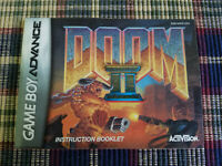Doom II 2 - Authentic - Nintendo Game Boy Advance - GBA - Manual Only!