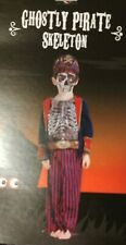 Ghostly Pirate Skeleton Halloween Costumes Age 11-12 with Mask
