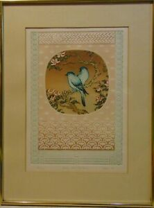 BIRDS & PAULOWNIA, 1981  INTAGLIO ETCHING S IGNED, FRAMED, MATTED