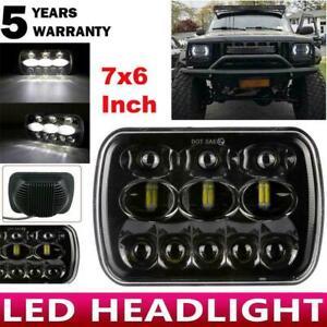 "5x7 7x6"" Inch LED DRL Beam Headlight Square Headlamp For Chevrolet Jeep Cherokee"