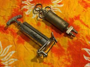 Antique Medical Syringe Equipment - 2 pc. LOT - Vintage