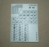 GENUINE VW MK4 GOLF FUSE CARD 1J0010227H (A14)