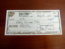 DONN EISELE APOLLO 7 NASA ASTRONAUT SIGNED AUTO VINTAGE CHECK JSA AUTHENTIC