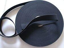 2 yards**.Black* 1 inch heavy duty elastic band