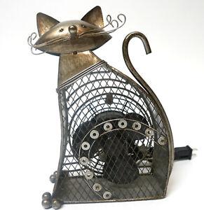 "Purrfect Kitty DECO BREEZE Cat Electric Fan Figurine 11"" H x 7.75"" W x 3.25"" D"