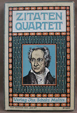 Zitaten Quartett Jos. Scholz Verlag Mainz No 5057 1. Ausführung flache Schachtel