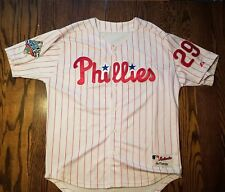 Raul Ibanez Authentic Majestic 2008 World Series Phillies Jersey Sz 50 White