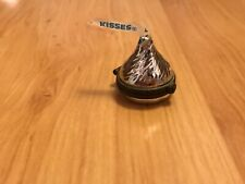 Vtg 1997 Midwest of Cannon Falls Hershey's Kiss Porcelain Trinket Box Silver Euc