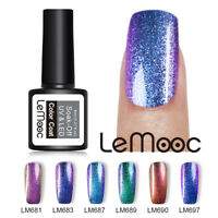 LEMOOC 8ml Chamäleon Gellack Soak Off UV Gel Polish Nagel Kunst Black Based Need