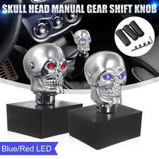 Universal Car Blue LED Skull Head Manual Gear Stick Lever Shifter Shift Knob AU