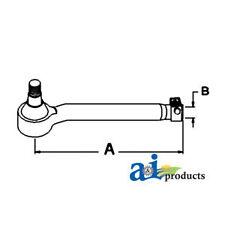John Deere Parts TIE ROD R/H AL68255  3650 (W/MFWD), 3640 (W/MFWD), 3350 (W/MFWD