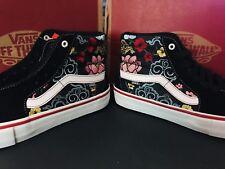 03d9fba6bf Vans SK8-Hi PRO (Lizzie Armanto Floral) Black Suede Size US 9 Men s