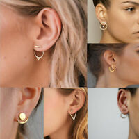 Fashion Silver Simple Round Ear Stud Drop Gold Small Hoop Earrings Jewelry Gifts