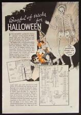 1937 Halloween Party Tricks & Gags & Games vintage How-To Plans Info