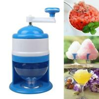 Snow Cone Maker Machine Ice Shaver Crusher Small Portable Hand Cranked Shaved