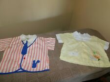 Nannette + Cradle Togs Embroidered Bunny Yellow Boy Diaper Shirts Vintage