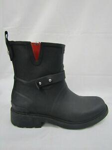 Rag and Bone New York Black Moto Rain Boots Size Woman 7